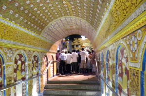 The tunnel leading into the lower chamber of the Temple