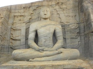 Largest of the 2 seated images at Gal Vihara