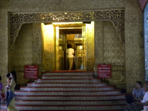 Entering the central Stupa of Botataung