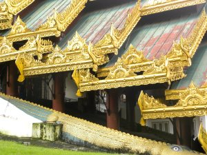 Crocodile and Gilded Roof Trim - Southern Entrance