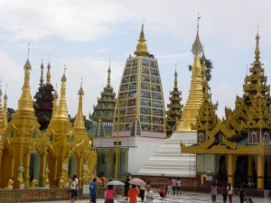 Sampling of the many stupas around the Schwedagon