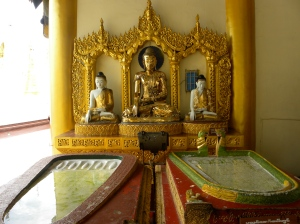 The chapel room - footprints of Buddha