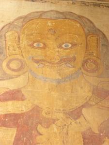 Fresco of nat (Burmese deity) inside Sulamani Temple