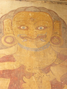 Fresco of nat (Burmese deity) inside Sulamani Temple