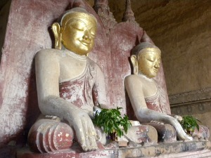 The Buddha and the Maitreya inside Dhammayangyi