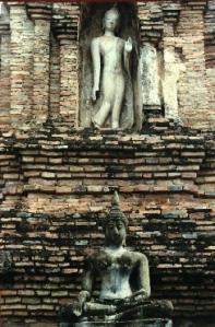 Detail of temple exterior - Sukhothai, Thailand (2006)
