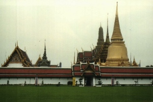 View of Wat Phra Keo temple complex - Bangkok, Thailand (2006)