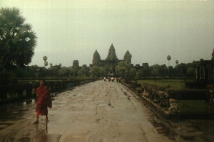The approach to Angkor Wat temple complex - Angkor, Cambodia