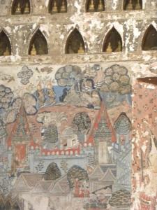 Mural inside Wat Si Saket
