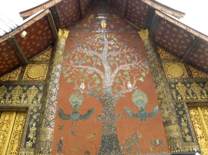 Tree of Life mosaic - Wat Xieng Thong