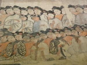 Fresco inside Wat Ha Puak - Phu Si