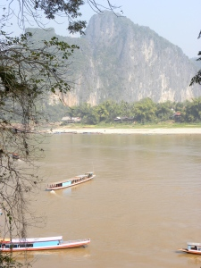 Cliffs along the Nam Ou River - Laos