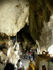 Inside Tham Ting - lower cave of Pak Ou