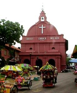 Christ Church (built in 1753) - Melaka, Malaysia