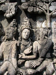 Detail of terrace carving